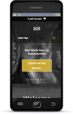 Regina Web Design Black Bridge Brewery