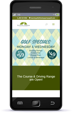 Regina Web Design Flowing Springs Golf Regina