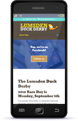 Regina Web Design Lumsden Duck Derby