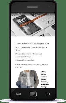 Regina Web Design Trinos Menswear